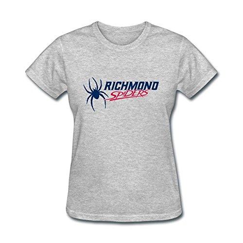 (D2QK3F Women's American College Football Team Caa Richmond Spiders Logo T Shirts)