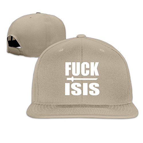 [MaNeg Fuck ISIS Unisex Fashion Cool Adjustable Snapback Baseball Cap Hat One Size Natural] (Nike Atlanta Braves Light)