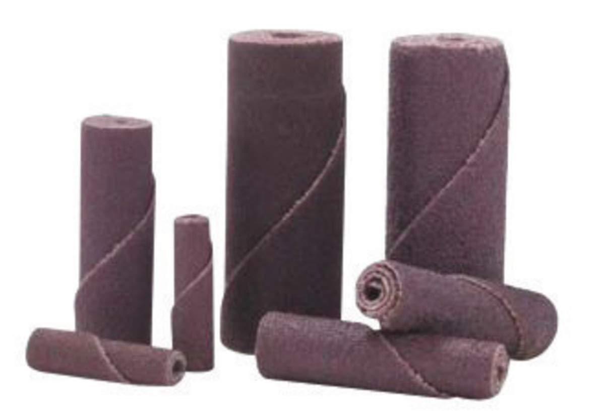 Merit 3/4'' X 1 1/2'' X 3/16'' 60 Grit Medium Grade Aluminum Oxide Resin Bond Straight Cartridge Roll With M - 16 Mandrel