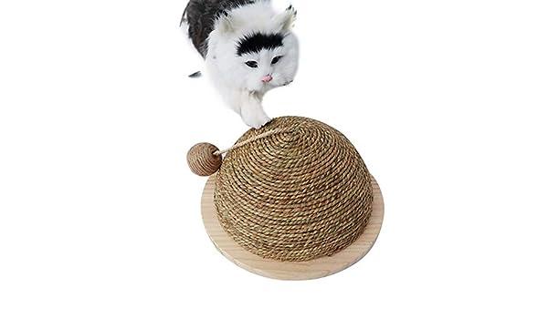 didatecar - Juguete rascador para Gatos, rascador en Forma de Bola ...