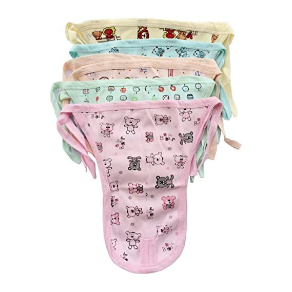 Fancyadda Babys' Cotton Langots (Multicolour)- Pack of 5