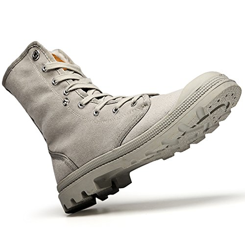 and Women shoes Top Trekking Canvas Couple GOMNEAR Men Gray boots and walking Warm High Snow 1xBqIPUw