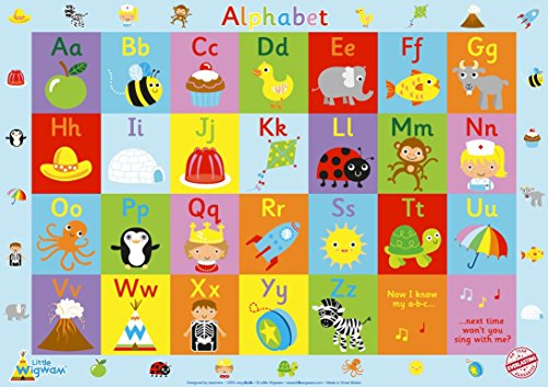 "Amazon.com: Little Wigwam Alphabet Chart - ""No Tear Guarantee ..."