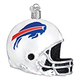 Just Be Claus Buffalo Bills Football Helmet Glass Christmas Ornament
