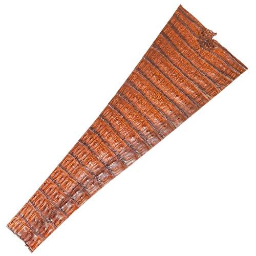 Genuine Large Caiman Alligator Tail (#2 Medium Brown) ()