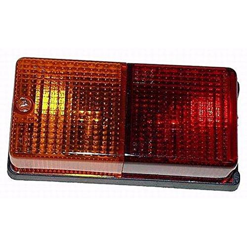 Maypole Rectangular Combination Lamp (One Size) (Orange/Red)