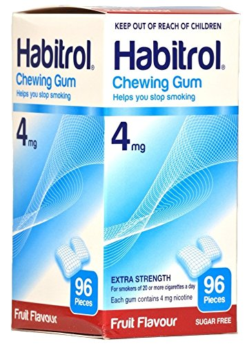 Habitrol 4mg FRUIT Flavor Nicotine Quit Smoking Chewing Gum. 2 Boxes of 96 each (192 pieces)