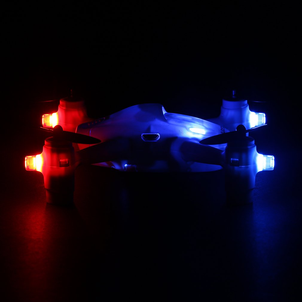 Drone con Camera 720p RTF 2.4 GHz Quadricottero con Telecamera HD 4CH RC Quadcopter con 4 Luci LED Controllo a Distanza 150m Hubsan X4 H107C