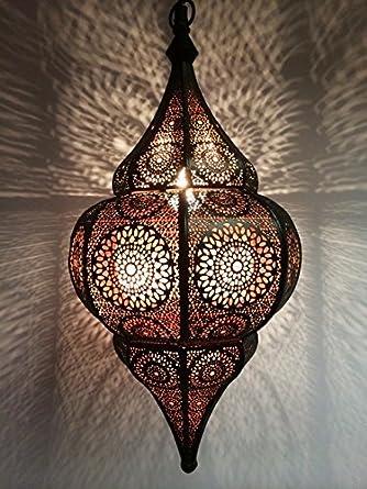 Orientalische Lampe Pendelleuchte Schwarz Malhan 50cm E14 Lampenfassung |  Marokkanische Design Hängeleuchte Leuchte Aus Marokko | Orient Lampen Für  ...