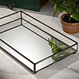 J Devlin TRA 108 Glass Jewelry Tray Vanity Organizer Dresser Tray with Mirror Bottom