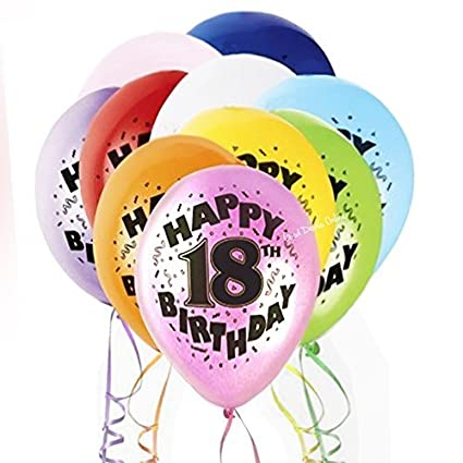Amazon.com: Mezclado Multicolor Happy Birthday globos de ...