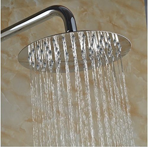 Gowe Newly Coming 8-in Chorme Polish Shower Set Bathroom Wall Mounted Single Handle Mixer Faucet 2