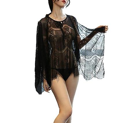 SHENLIJUAN Lencería sexy Señoras urbanas Perspectiva Pijamas Traje ...