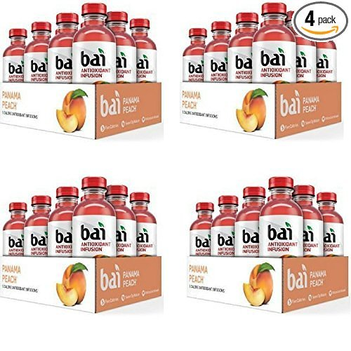 Bai Panama Peach, 18 Oz, 48 Count by Bai