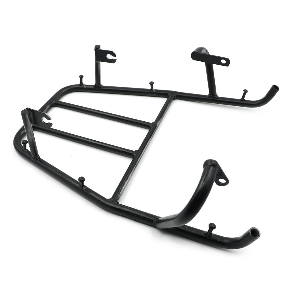 Alpha Rider Black Rear Seat Rack Luggage Shelf Holder Rack Stock for Yamaha TW200 1987-2008