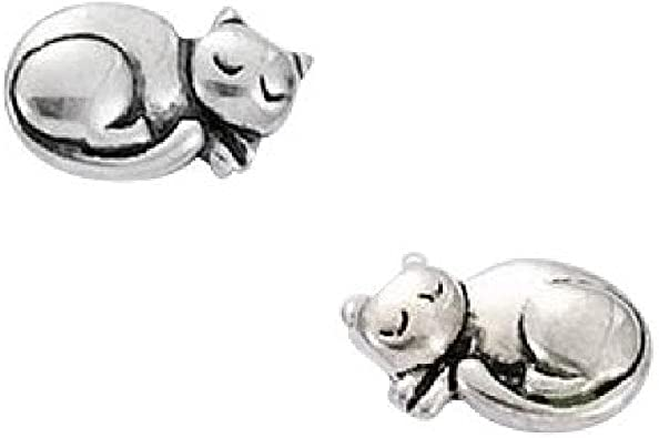 So Chic Jewels 925 Sterling Silver Cat Ear Studs
