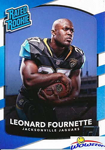 Leonard Fournette 2017 Donruss  319 Rated Rookie Rookie Card Mint Condition  Shipped In Ultra Pro Top Loader To Protect It  Jacksonville Jaguars Running Back Superstar Top Nfl Draft Pick   Wowzzer