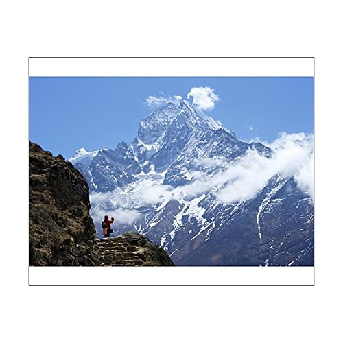 20x16 Print of Trail between Namche Bazaar and Everest View Hotel, with Mt (9084071)