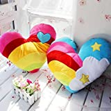 HOMEE Colorful Candy Colored Rainbow Heart-Shaped Cushion Rainbow Heart Pillow Love Plush Toy Car Sofa Cushion ,4035, 2.50 Heart),Blue Love),4035
