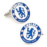 Soccer Mens Plated Chelsea FC Cufflinks Blue