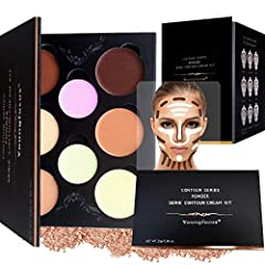 The Youngfocus Powder Contour Palette Makeup Kit is divided into two parts: the modification of skin color and the shaping of contour. The Powder contour is on your original face shape, so that your facial proportions are adjusted to tighten ...