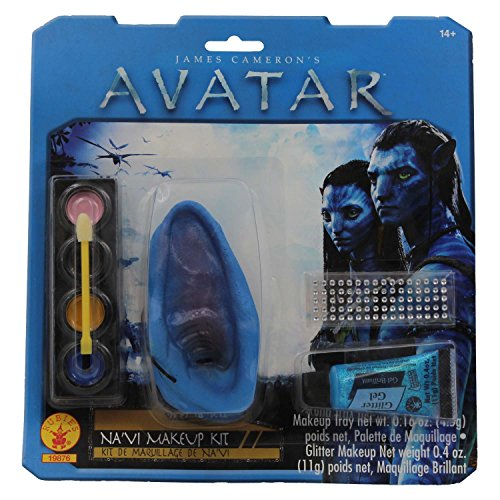 [Rubies Adult Avatar Deluxe Na' Vi Costume Accessory Makeup Kit with Ears] (Avatar Makeup)