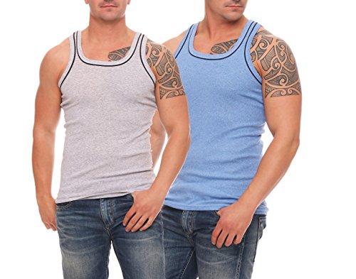 4, 6 oder 12 Stück dunkelfarbige Herren-Unterhemden Vollachsel Achselhemden  super weich Feinripp Gr. 5 (M) - 12 (6XL): Amazon.de: Bekleidung