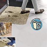 Magic Doormat Super Absorbs Mud Doormat Durable Anti-Slip Rubber Back Low-Profile Entrance Door Mat Shoe Scraper Pet Mat Machine Washable(Brown)