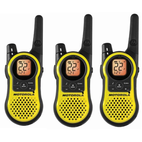 Motorola MH230TPR Rechargeable Two Way Radio 3 Pack, FRS/GMRS (Radio Rechargeable)