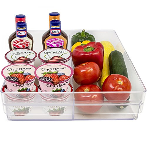 Acrylic Double Refrigerator Storage Drawer