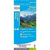 Ossau / Vallée d'Aspe / Parc national des Pyrénées : 1/25 000 (1547OT) (Top 25 & série bleue - Carte de randonnée)