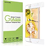 iPhone 8 Plus Screen Protector-OCYCLONE Tempered Glass with 3D Touch Case Protective Screen Protector for Apple iPhone 7 Plus (White)