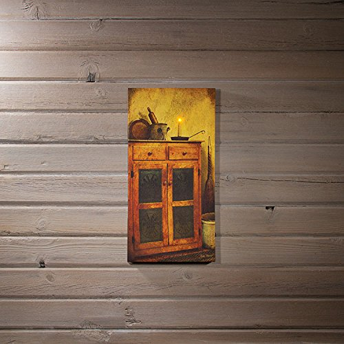 Lighted Old Pie Safe Canvas