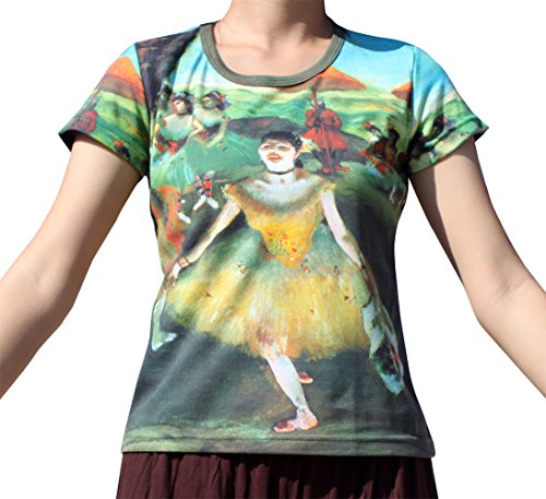 Raan Pah Muang RaanPahMuang Brand Edgar Degas Dancer With Bouquet Ladies T-Shirt, - Edgars Brands