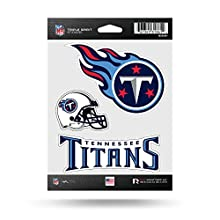 NFL Tennessee Titans Triple Spirit Stickers, Blue, Blue, Red, 3 Team Stickers