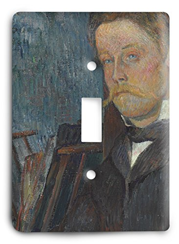 1884 Portrait Portrait (Paul Gauguin Portrait Of A Man 1884 Light Switch Cover)