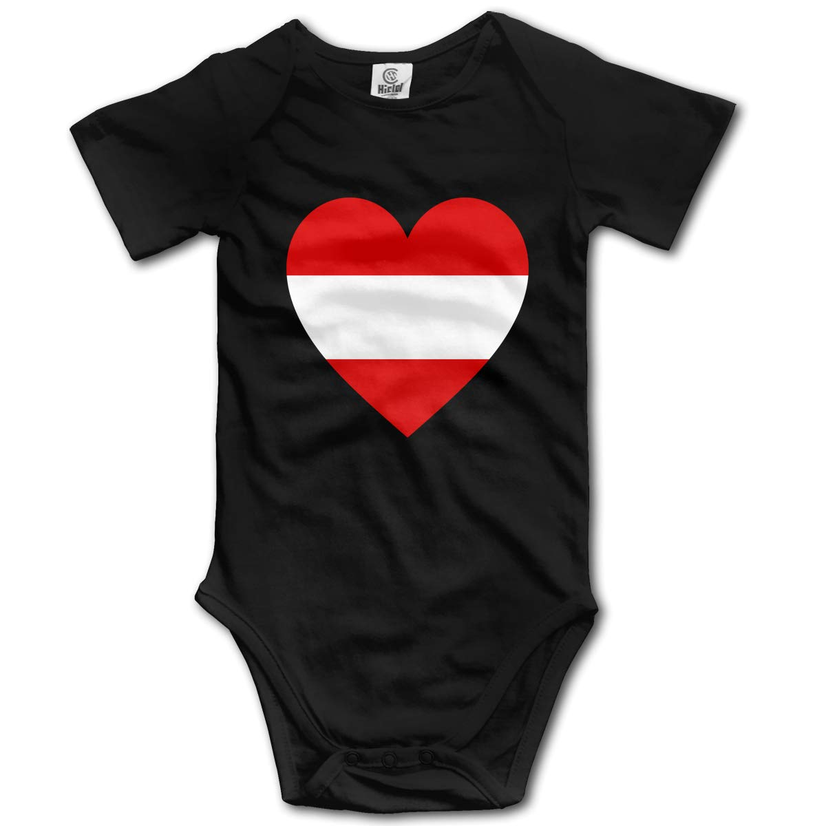Baby Short-Sleeve Onesies Love Austria Flag Bodysuit Baby Outfits