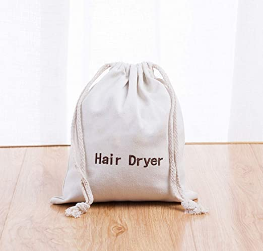 Bolsas para el secador de pelo Bolso con cordón de algodón ...