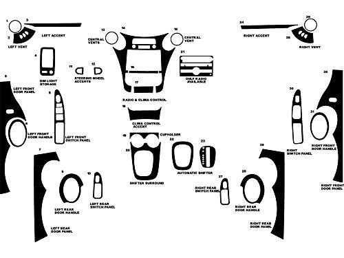 - Rdash Dash Kit Decal Trim for Saturn Ion 2006-2007 (Sedan) - Matte (Silver)