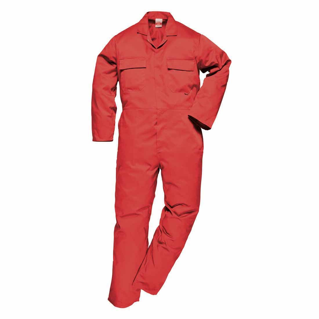 Portwest Men's Euro Work Boilersuit Coverall Overall Stud Front Elastic Waist