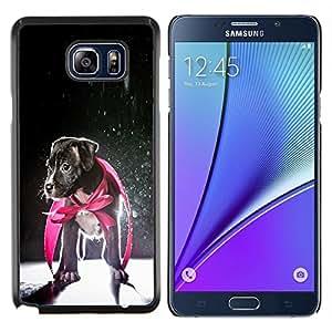 YiPhone /// Prima de resorte delgada de la cubierta del caso de Shell Armor - Perrito Jack Russell héroe del perro del bebé - Samsung Galaxy Note 5 5th N9200