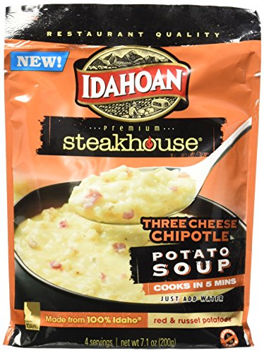 Idahoan Steakhouse Potato Soup, Three Cheese Chipotle, 7.1 Ounce