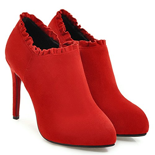 Kengät Alustan Punainen Teräväkärkiset Klassinen Artfaerie Nilkkurit Stiletto Zip Naisten Korkokenkiä Kengät RPFOWqgWaw