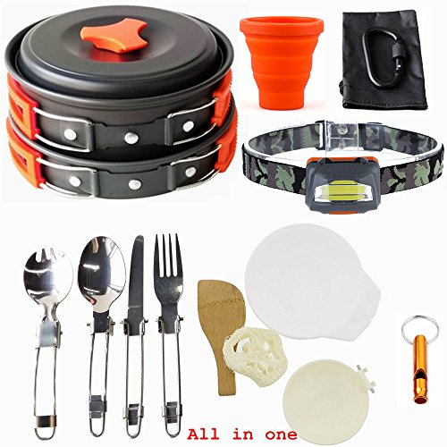 1-2 Person Portable Camping Hiking Outdoor Cooking Set - 3