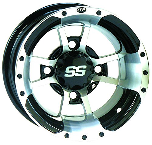 ITP SS112 Sport ATV Wheel 9x8 Machined w/Black (Itp Ss112 Wheel)