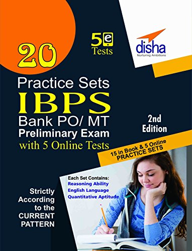 20 Practice Sets for IBPS Bank Clerk Preliminary Exam - 16 in Book + 4 Online Tests 2nd Edition