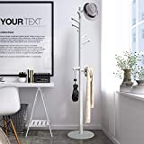 Vlush Sturdy Wooden Coat Rack Stand, Entryway