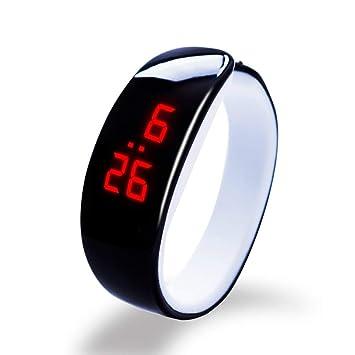 KDSFJIKUYB Fitness Tracker Caliente 10 Colores Dolphin Bracelet Watch Band Reloj Digital LED Rojo Relojes Mujer