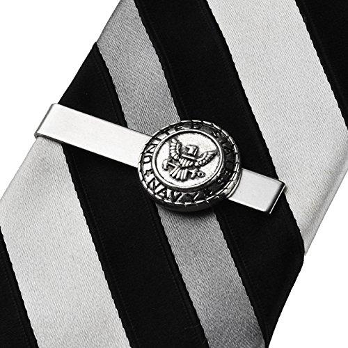 Quality Handcrafts Guaranteed Navy Tie Clip -