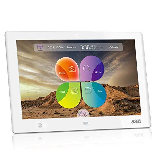 """SSA 10.1"""" Cadres photo numérique HD Built-in Storage Motion Sensor Cadre photo numérique (blanc)"""